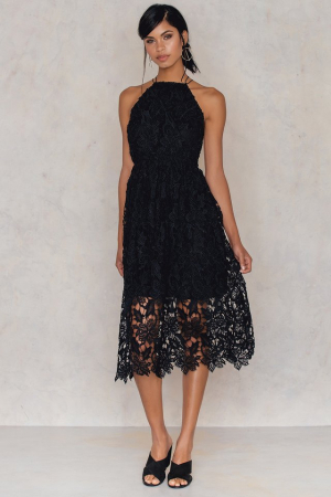 Crochet Strap Back Dress0