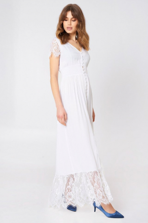 Rochie Buttoned Maxi Lace2