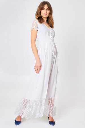 Rochie Buttoned Maxi Lace0