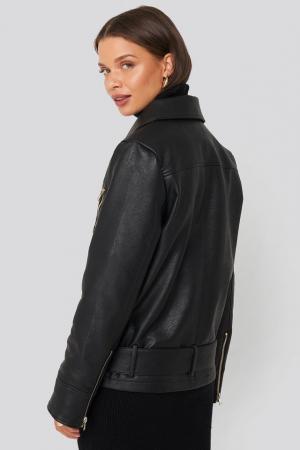 Jacheta Oversized Detail Faux Leather [1]