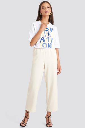 Pantaloni Elastic Waistseam Cropped [1]