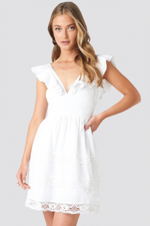 Rochie Tie Back Layered Flounce [1]