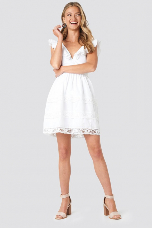 Rochie Tie Back Layered Flounce [2]