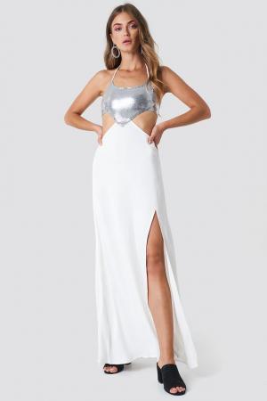 Halterneck Cut Out Maxi Dress [0]