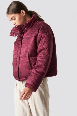 Geaca Shiny Jacquard Puff Jacket [0]