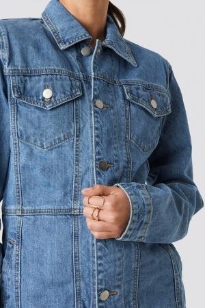 Geaca Marked Waist Denim Jacket [4]