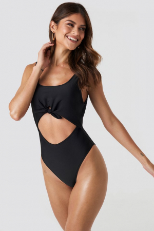Cut Out Knot Detail Swimsuit0