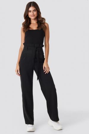 Pantaloni Highwaisted Tied Belt0