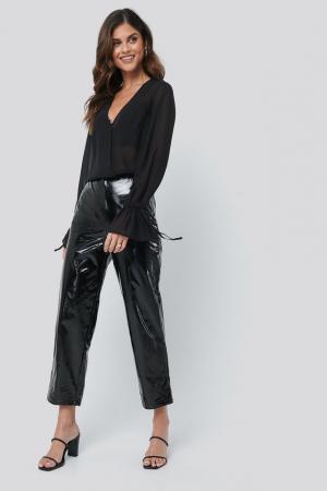 Top Bluza Sheer V-Neck2