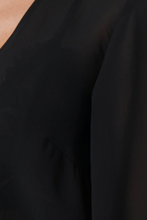 Top Bluza Sheer V-Neck1