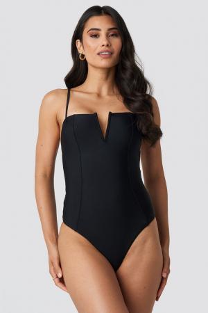 Costume de baie V-Shape Front Seam2