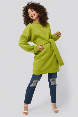Bluza Oversized Waist Belt Sweater3