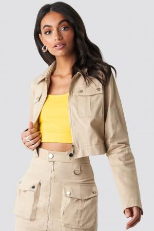 Jachetă scurtă cu fermoar0