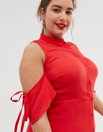Rochie Plus Size Ruffle [2]