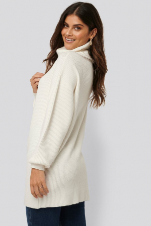 Pulover Big Collar Knitted Long1