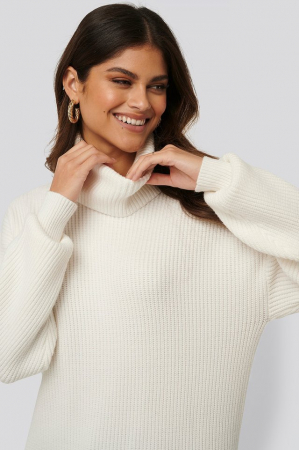 Pulover Big Collar Knitted Long2