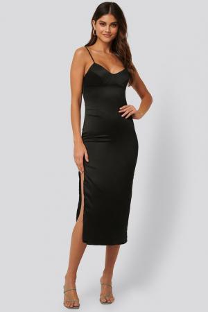 Rochie Satin Midi Dress [2]