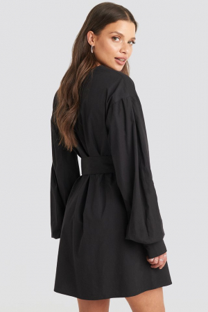 Rochie Camasa Belted Long Sleeve2