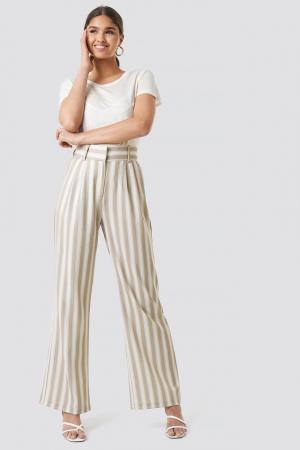 Pantaloni Tailored Striped0