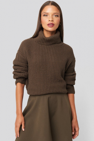 Pulover High Neck Knitted Sweater [0]