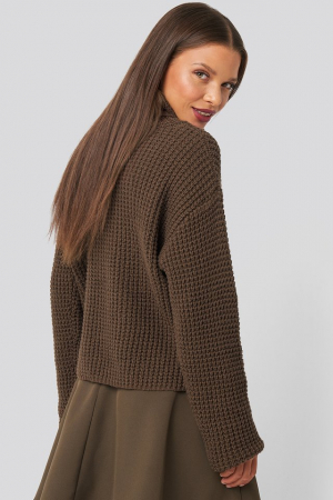 Pulover High Neck Knitted Sweater [1]