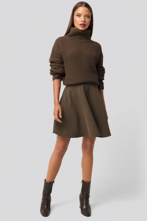 Pulover High Neck Knitted Sweater [2]