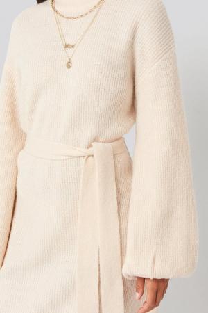 Rochie Tied Waist Knitted2