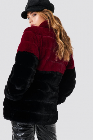Long Puff Faux Fur Jacket1