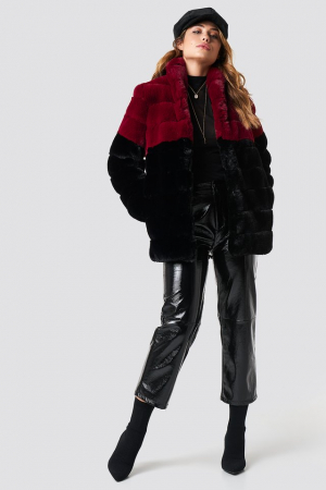 Long Puff Faux Fur Jacket2