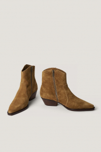 Botine din piele naturala Cruce Ankle Boots [1]