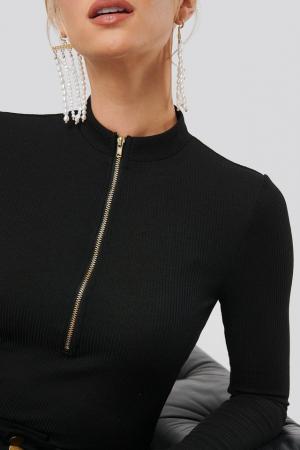 Bluza Ribbed Zipper Top3