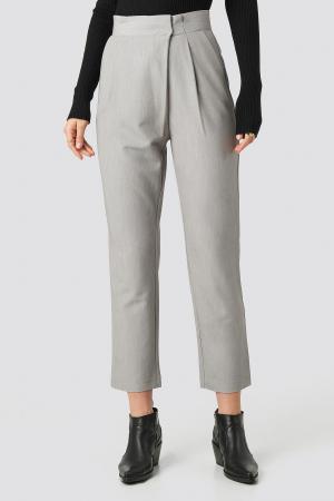 Pantaloni Paper Waist Straight [0]