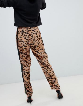 Pantaloni  Track Bottoms with Tiger print stripe [2]