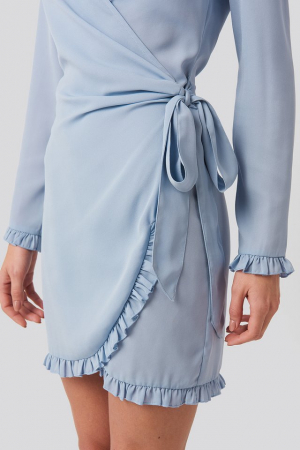Rochie Frill Detail Tie Waist Mini3