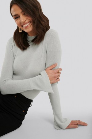 Bluza Turtle Neck Wide Sleeve Top0