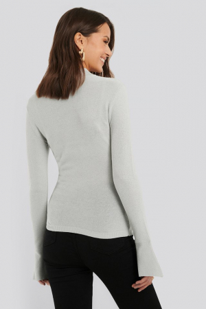 Bluza Turtle Neck Wide Sleeve Top1