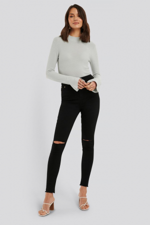 Bluza Turtle Neck Wide Sleeve Top2