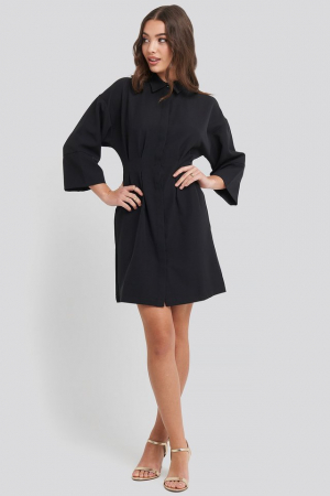 Rochie A-Line Shirt Dress0
