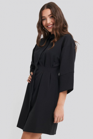 Rochie A-Line Shirt Dress3