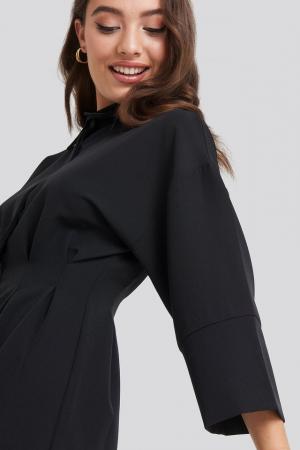 Rochie A-Line Shirt Dress2