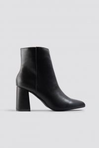 Botine Basic Block Heel Booties [0]