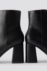 Botine Basic Block Heel Booties [1]
