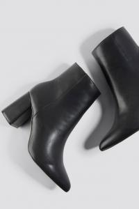 Botine Basic Block Heel Booties [2]