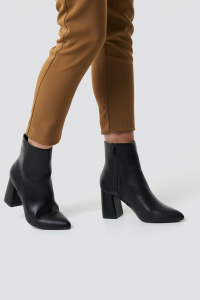 Botine Basic Block Heel Booties [5]