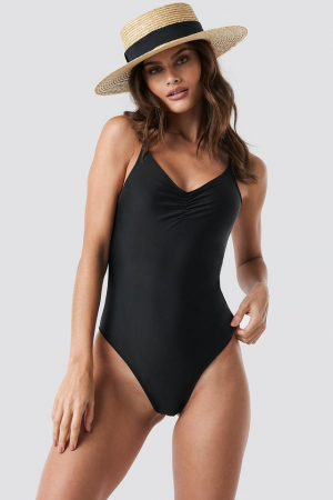 Basic Front Ruched Swimsuit0