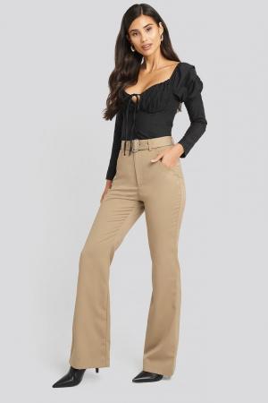 Pantaloni Belted Bootcut Pants [0]