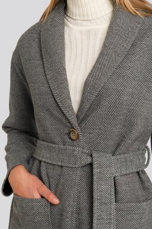 Belted Long Coat [2]