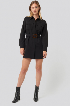 Rochie Belted Straight Fit Shirt [2]