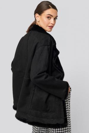 Big Pocket Faux Suede Jacket2