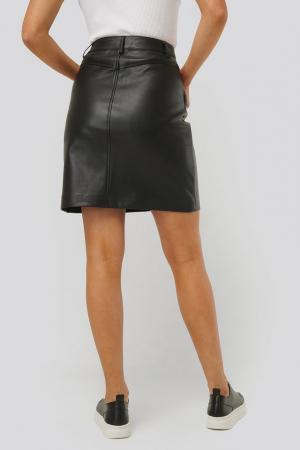 Fusta Big Pocket PU Mini Skirt1
